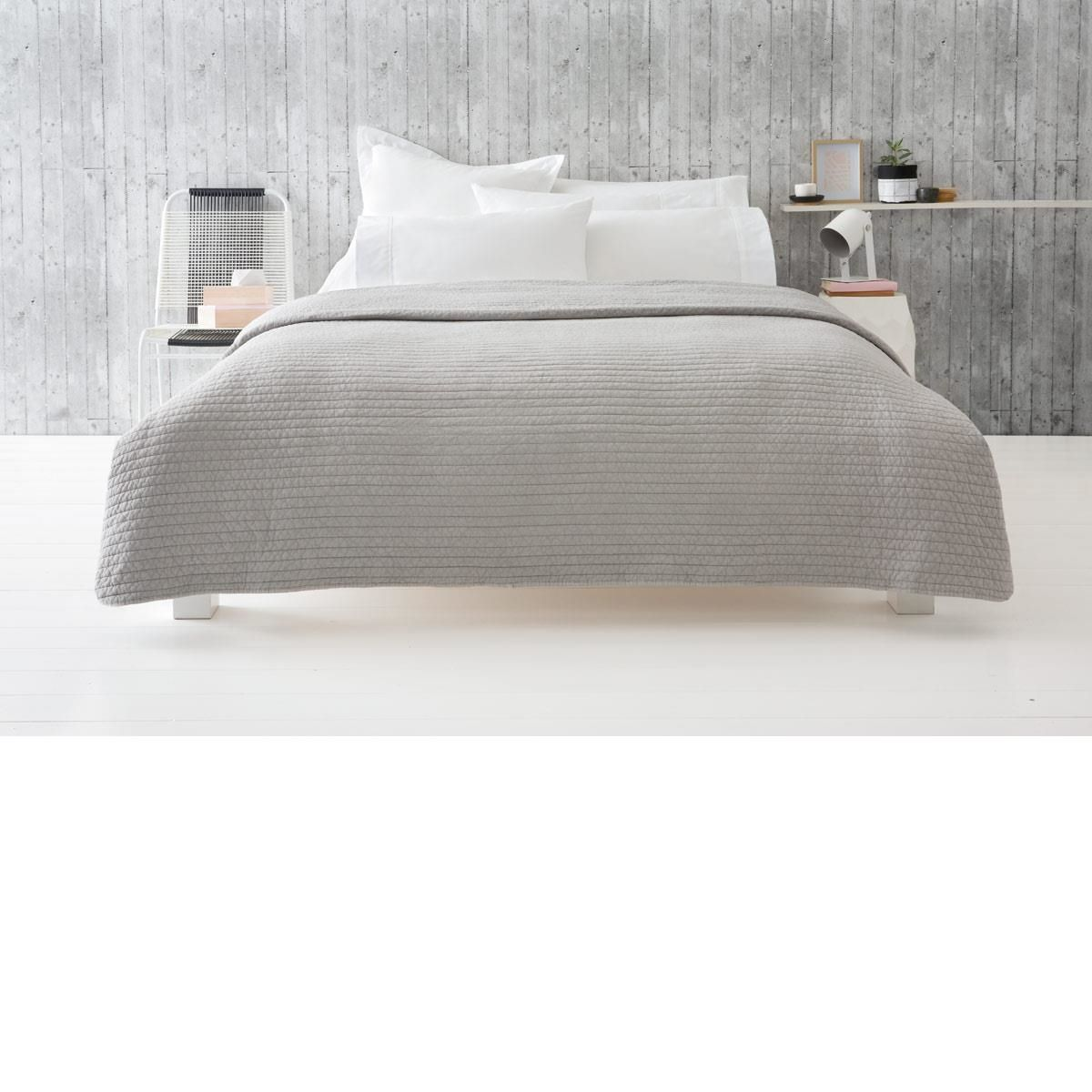 curtis coverlet queen bedking bed grey kmart - Bed Frames Kmart