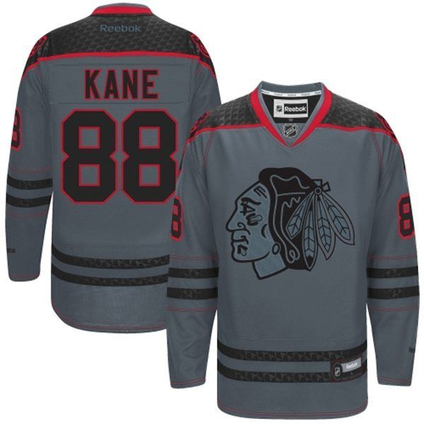 Chicago Blackhawks #88 Patrick Kane Charcoal Gray Jersey