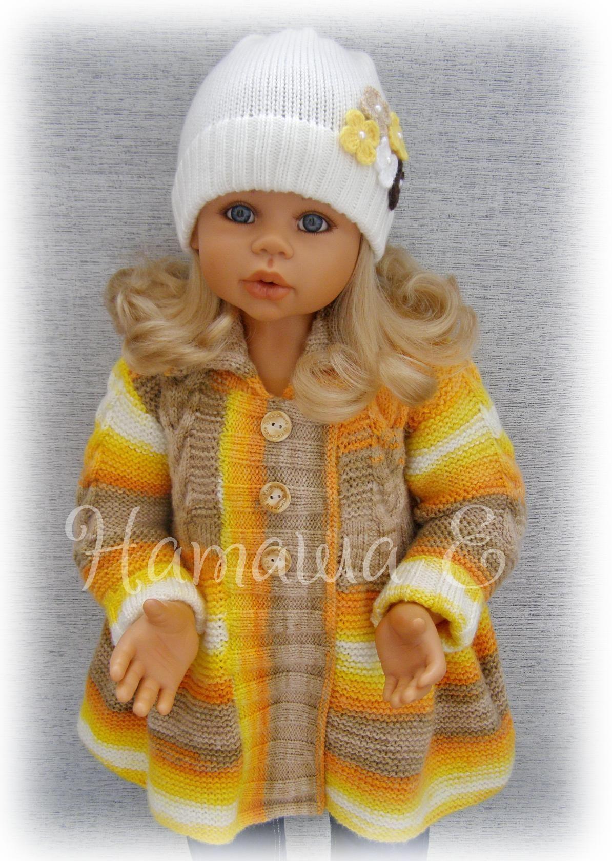вязание крючком пальто для куклы