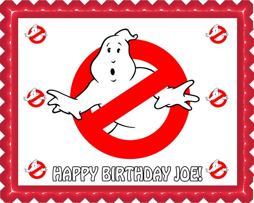 Ghostbusters 5 Edible Birthday Cake Topper