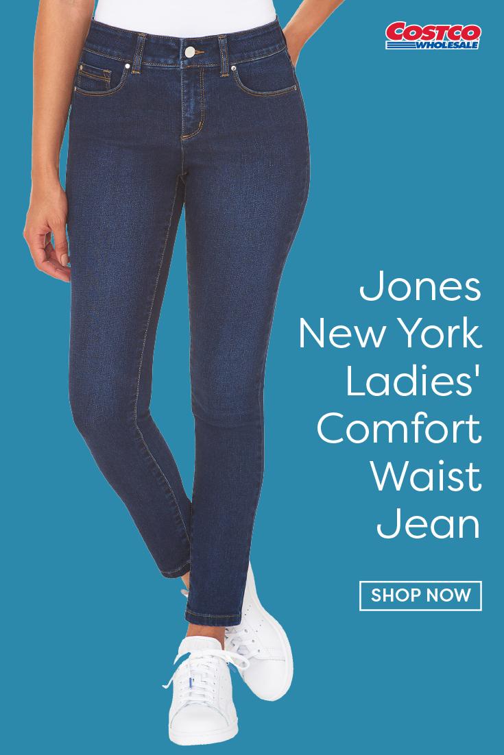 Jones New York Womens Comfort Waist Pants Denim