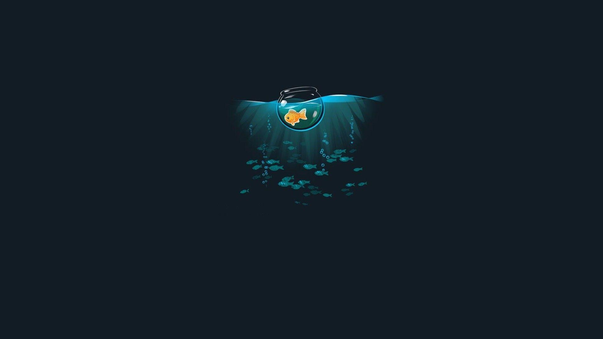 Goldfish Papel de parede do telefone, Ilustração de
