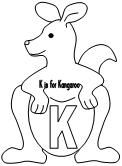 Printable Kangaroo Cut and Paste Project. Cut and Paste