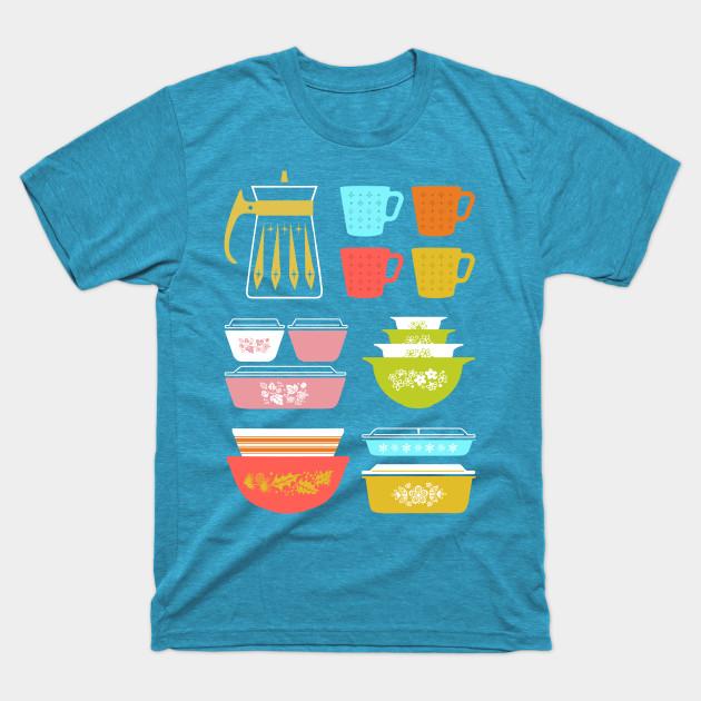 Pyrex Pretties Vintage Glass Kitchenware Short-Sleeve Unisex T-Shirt