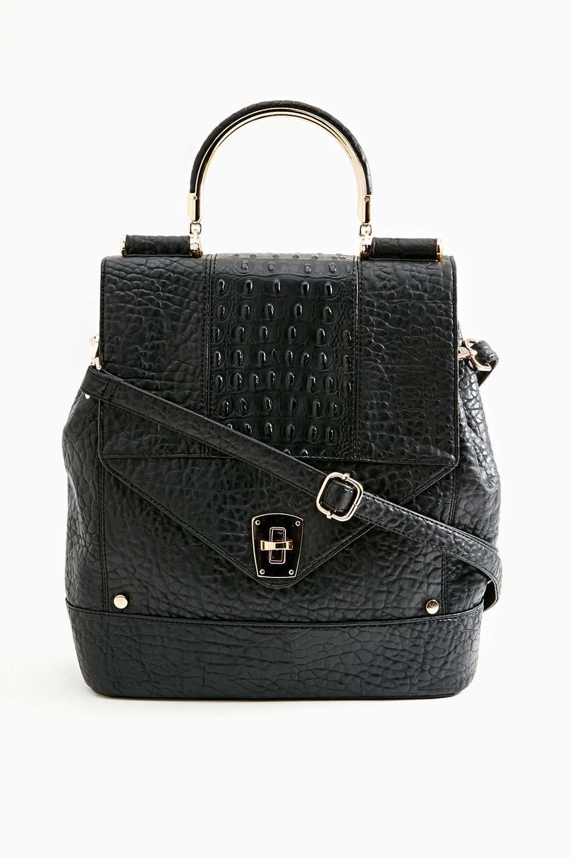 Nasty Gal Magdalena Satchel Womens Bag Handbag Nice Black