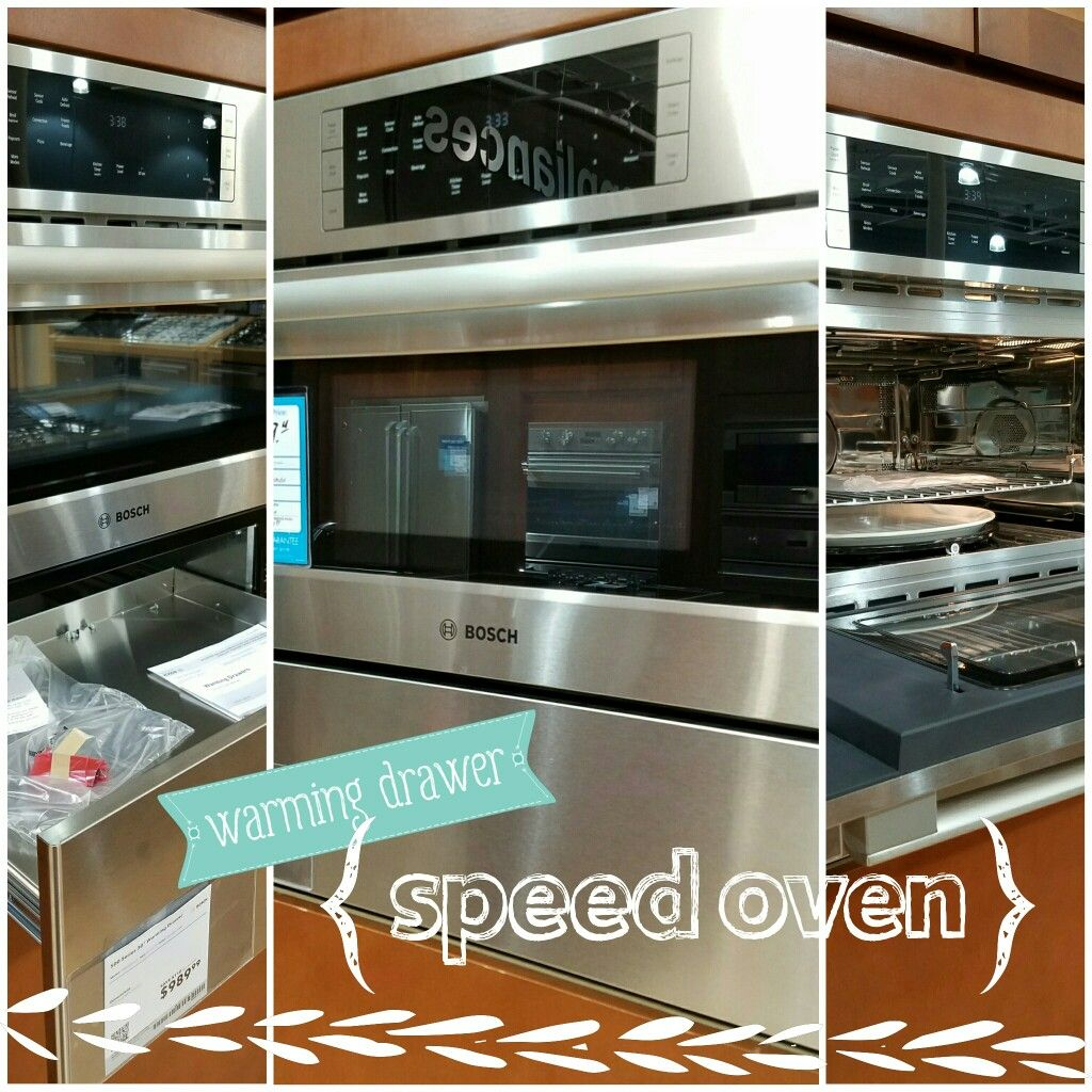Speed Oven Cook With Microwave Convection Or Both Bosch Benchmark Model Hmc80251uc Along With Warming Drawer Hwd5051 Warming Drawer Oven Kitchen Remodel