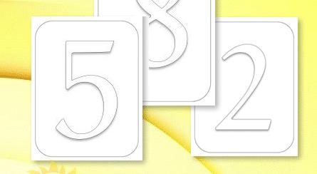 بطاقات الارقام مفرغة Archives شمسات Symbols Letters