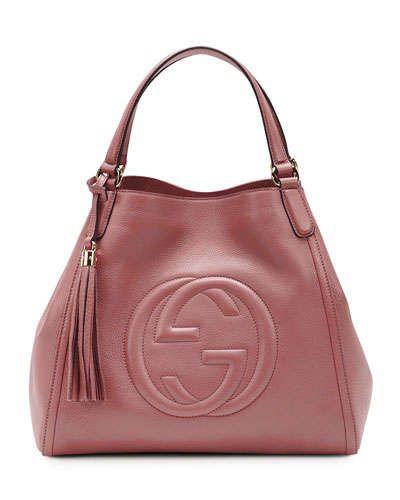 f64c66b3b8ae Gucci Soho Leather Shoulder Bag, Rose | Bags | Leather shoulder bag ...
