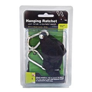 """Rope Ratchet Heavy Duty Hanger - 1/4"""" by Rope Ratchet. $14.55. ProGrip Heavy Duty Light & Equipment Hanger 1/4"""" (1 each). This Heavy Duty Light & Equipment Hanger allow you to secure items quickly and easily. The patented system pulls tight, locks in place, will never break or slip, and will not rust. Made with special composite material. Heat and cold resistant. 8' braided polypropylene rope. Carabiner clips provide a secure hold. Great for hoisting and securing: Reflectors Ca..."""