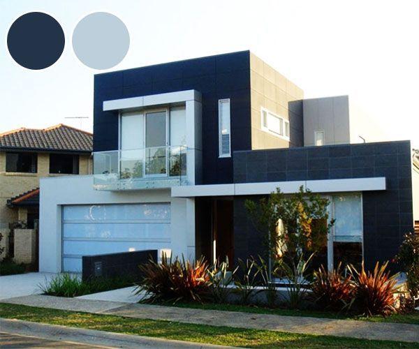 Resultado de imagen para casas modernas con dos colores de - Colores de fachadas de casas ...