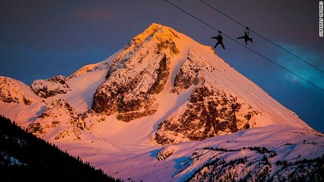 Whistler, B.C.'s Superfly Ziplines send you -- in near total darkness -- on a series of zips through remote stretches of nothing but snow an...