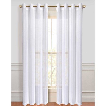 Dainty Home Malibu Window Curtain Panel Set Of 2 84 Inch X 110