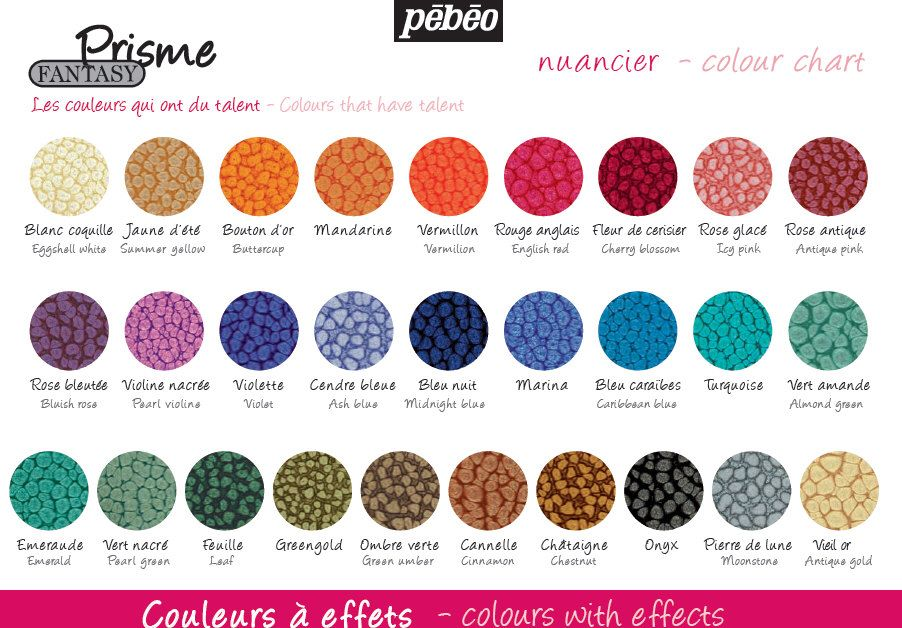 Pebeo Fantasy Prisme Paint Colors With Effects Honeycomb Special