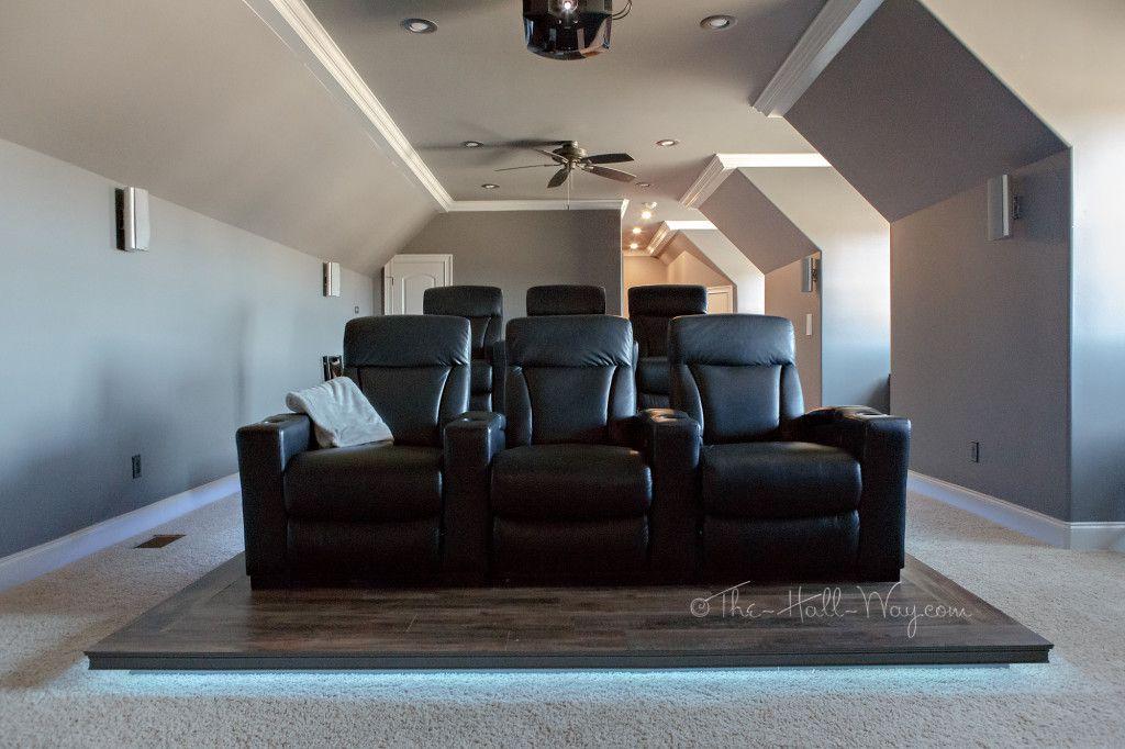 Diy Home Theater Bonus Room Platform Riser Media Man Cave