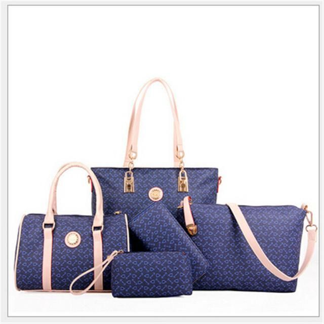 53bd0aad1b High Grade Pu Leather Handbag Composite Bags For Women Casual Tote Bags +Crossbody  bag+
