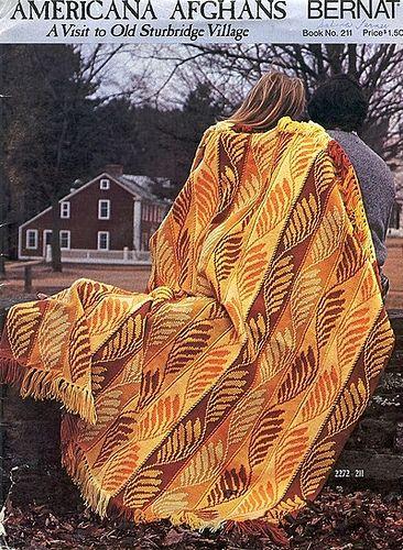 Bernat's Americana Afghans - a vintage pattern book