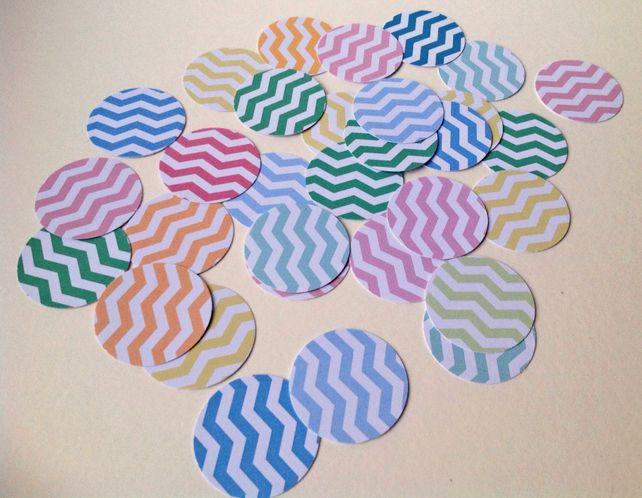 Card Shapes For Craft,Large Circles Smooth Edge,Chevron Print,100pk £1.30