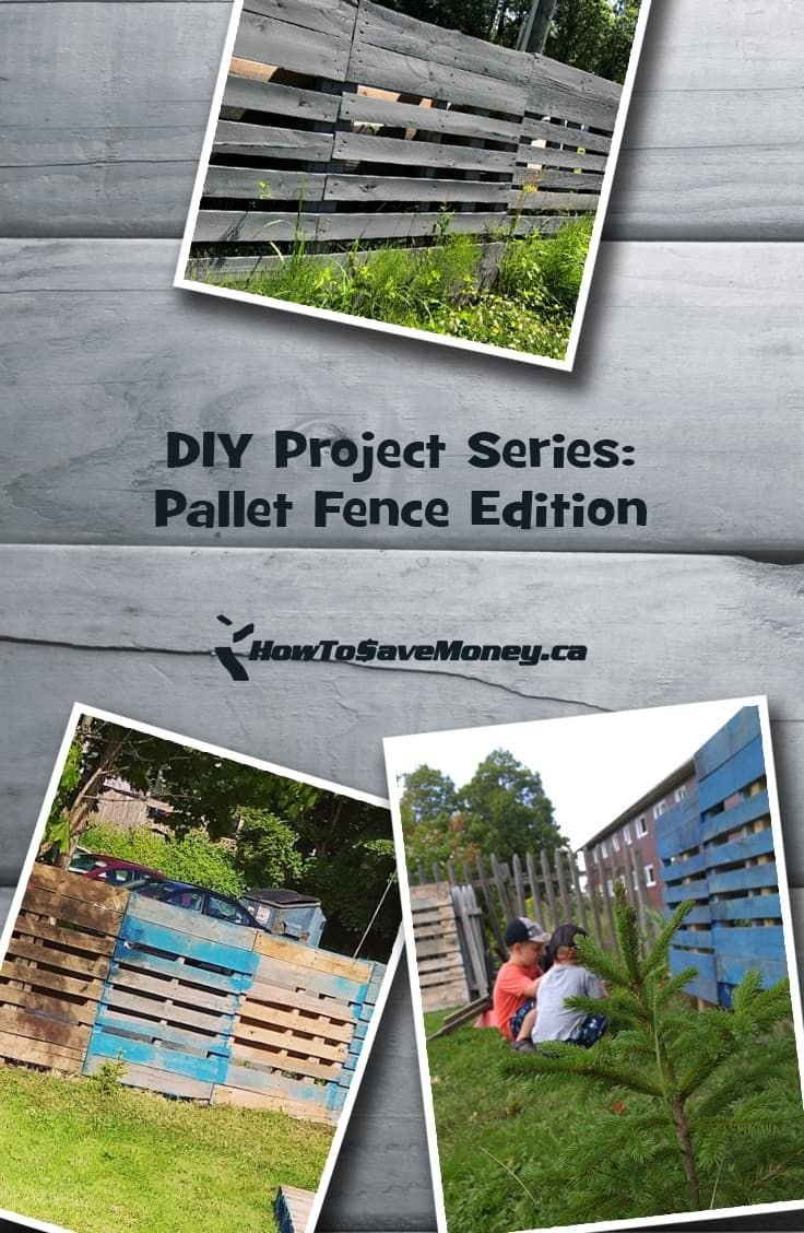 Diy project series pallet fence edition all about saving money