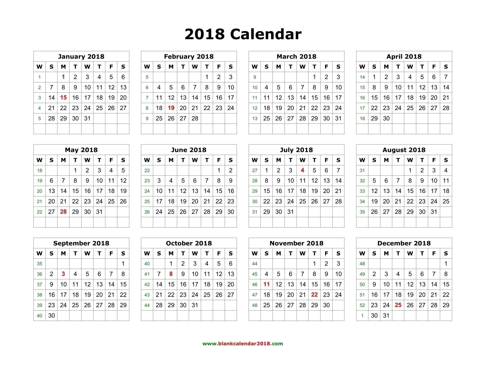 Yearly 2018 Calendar Blank Landscape On 12 Month Calendar 2018 Catch 12 Month Calendar Printable Yearly Calendar Template Monthly Calendar Template