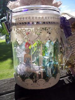 Put the Glue Down: Captured Fairy in a Jar with Resin Waterfall and Nightlights