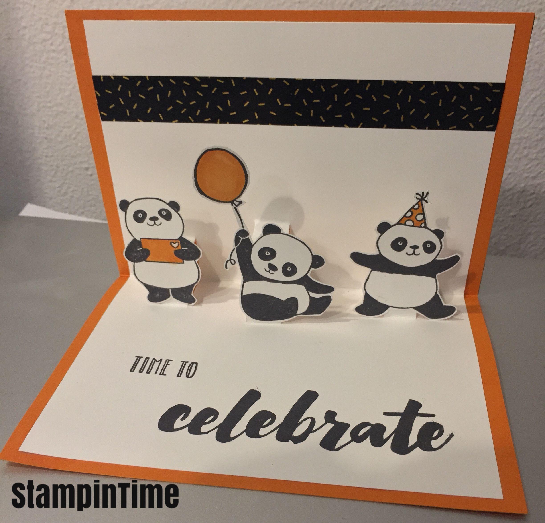 Pop Up Kaart Met De Party Pandas Kort