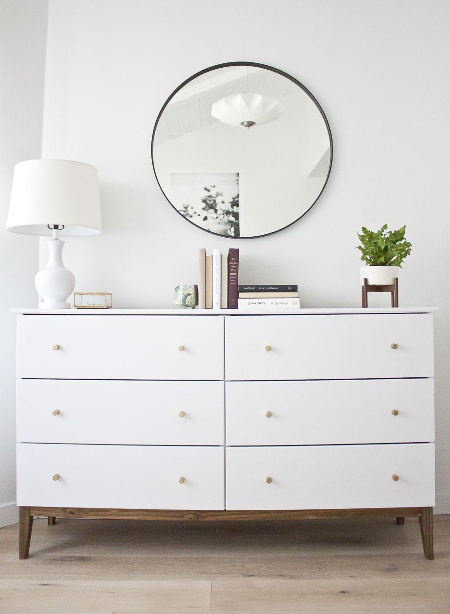 modern white dresser a west elm inspired ikea hack  ikea hack - modern white dresser a west elm inspired ikea hack