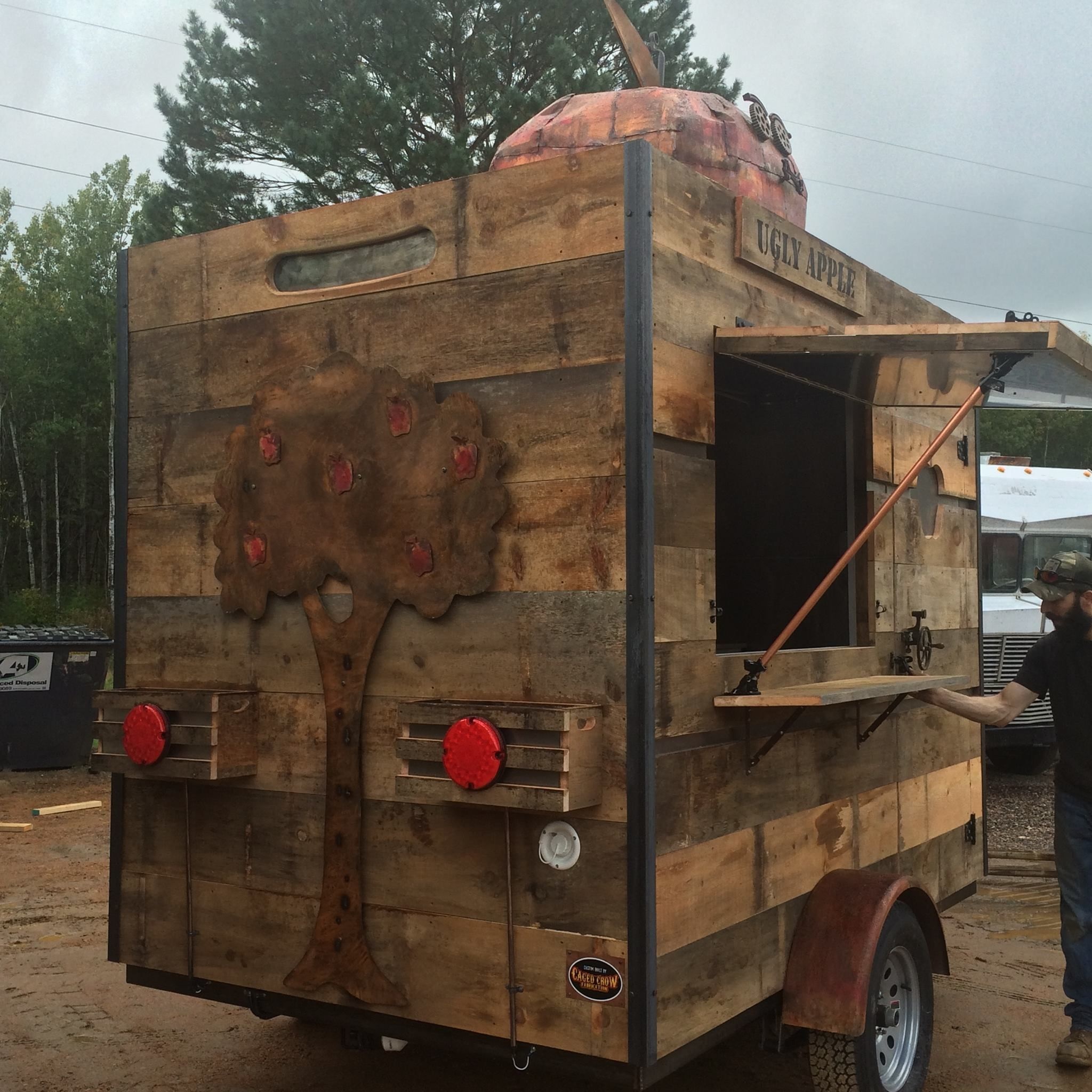 Custom concession trailers by caged crow no two built