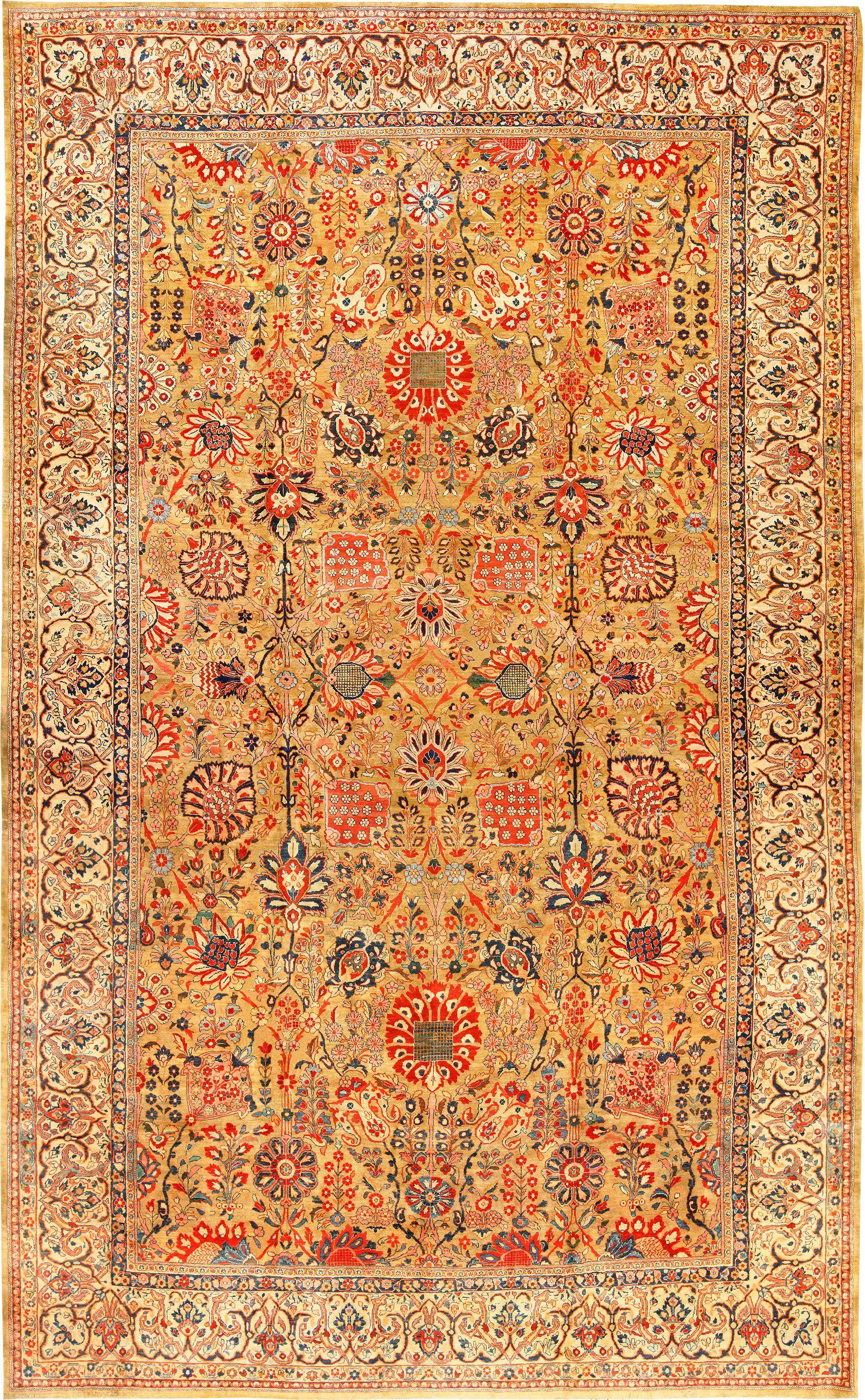 Antique Persian Sarouk Farahan Rug 49169 By Nazmiyal Rugs Victorian Rugs Antique Persian Rug