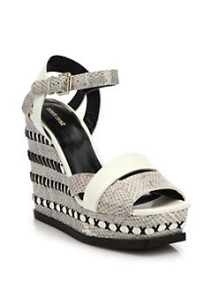 Roberto Cavalli Woven Leather Sandals buy cheap limited edition free shipping sneakernews 7J3hDoSQuv