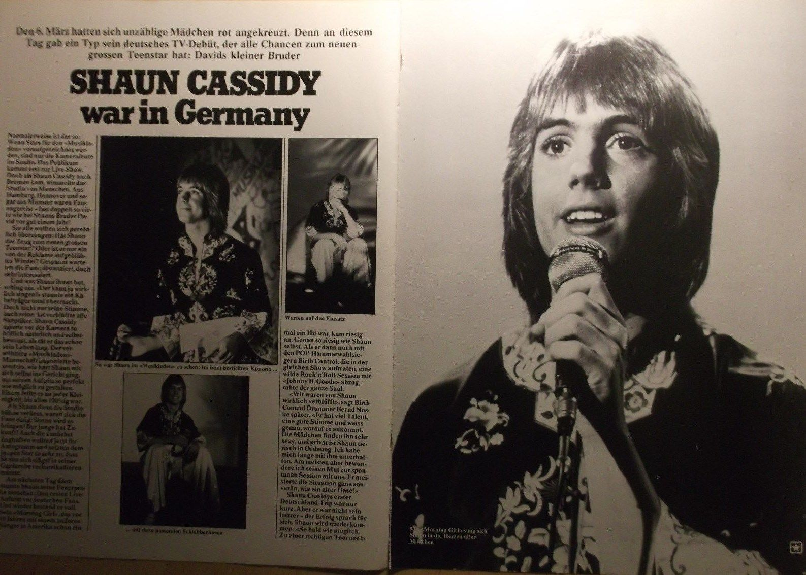 Details about 2 german clipping SHAUN CASSIDY N SHIRTLESS