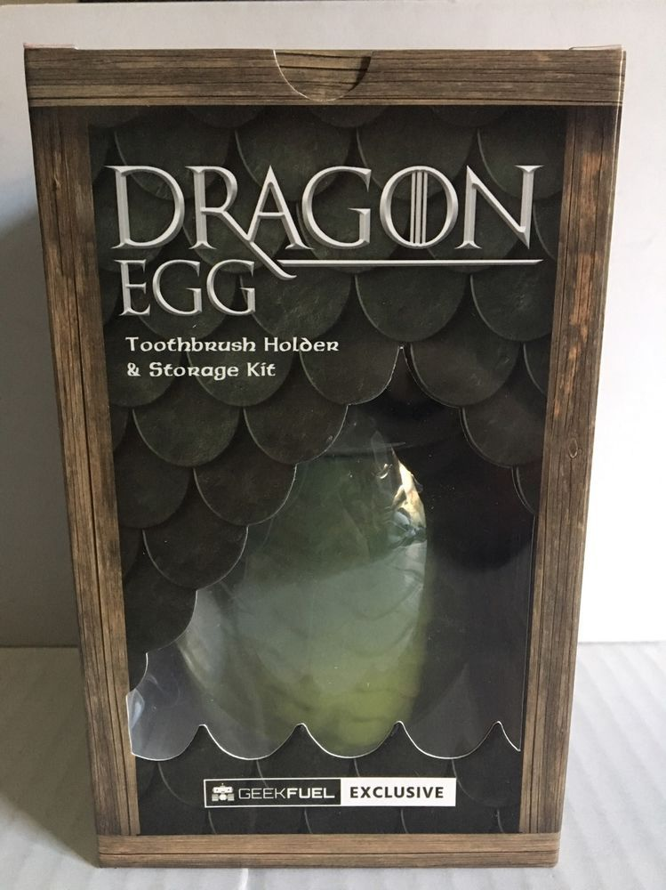 A Game Of Thrones DRAGON EGG Toothbrush Holder Storage Kit Geek Fuel Exclusive