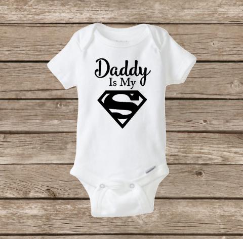 Daddy is my superhero onesie