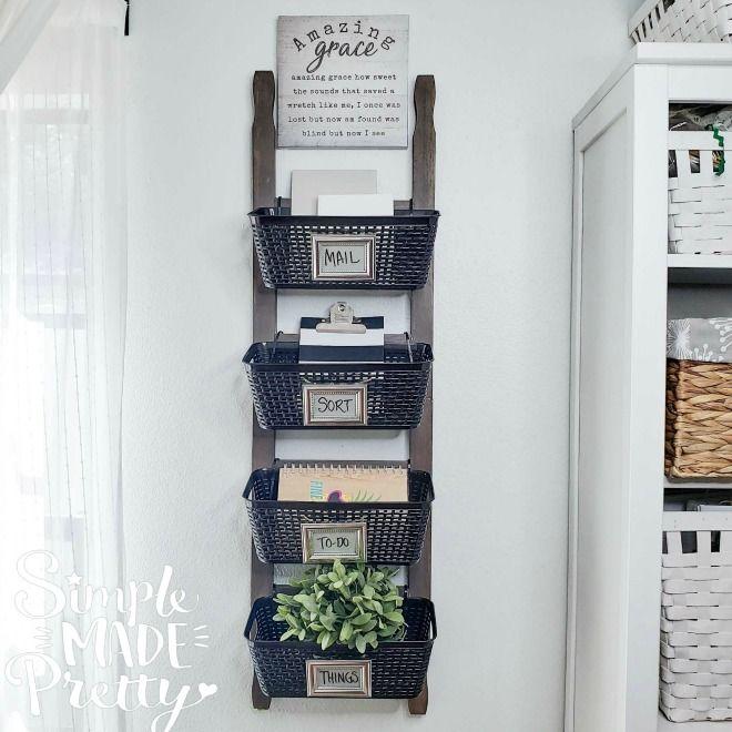 DIY Dollar Store Farmhouse Ladder