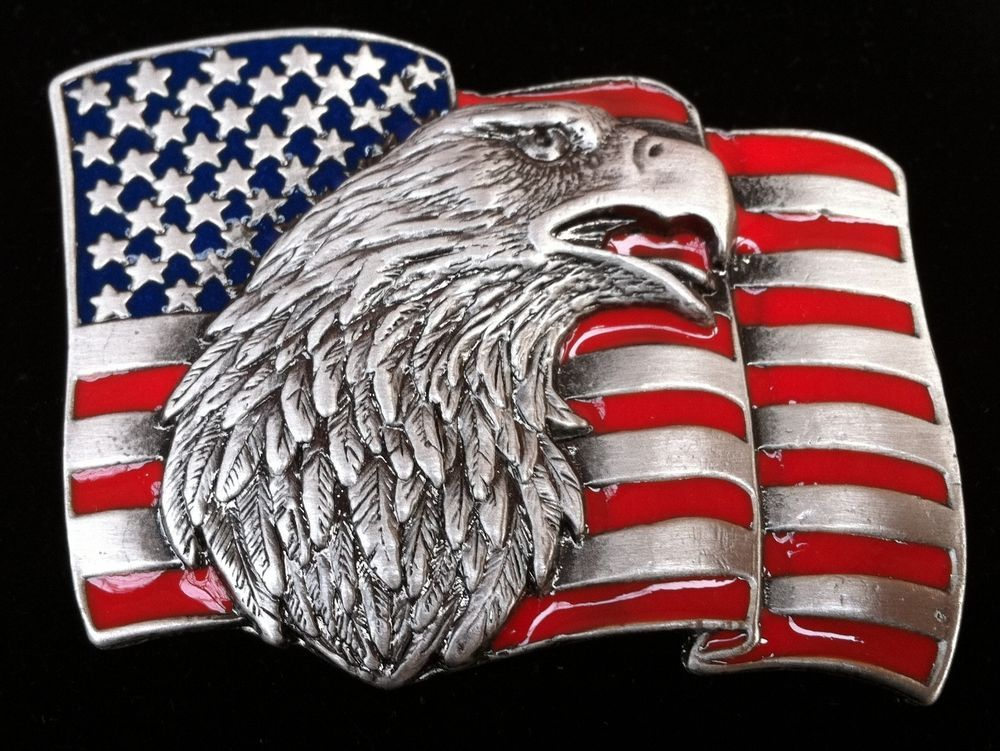 AMERICA USA UNITED STATES COUNTRY EAGLE FLAG BELT BUCKLE BOUCLE DE CEINTURE #Eagle #Casual #usaflag #beltbuckle
