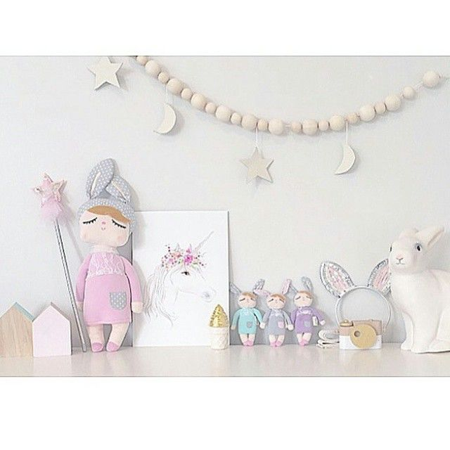 Sweet little space! Our unicorn print looks so pretty. Love all those dream dolls especially the mini ones!! X
