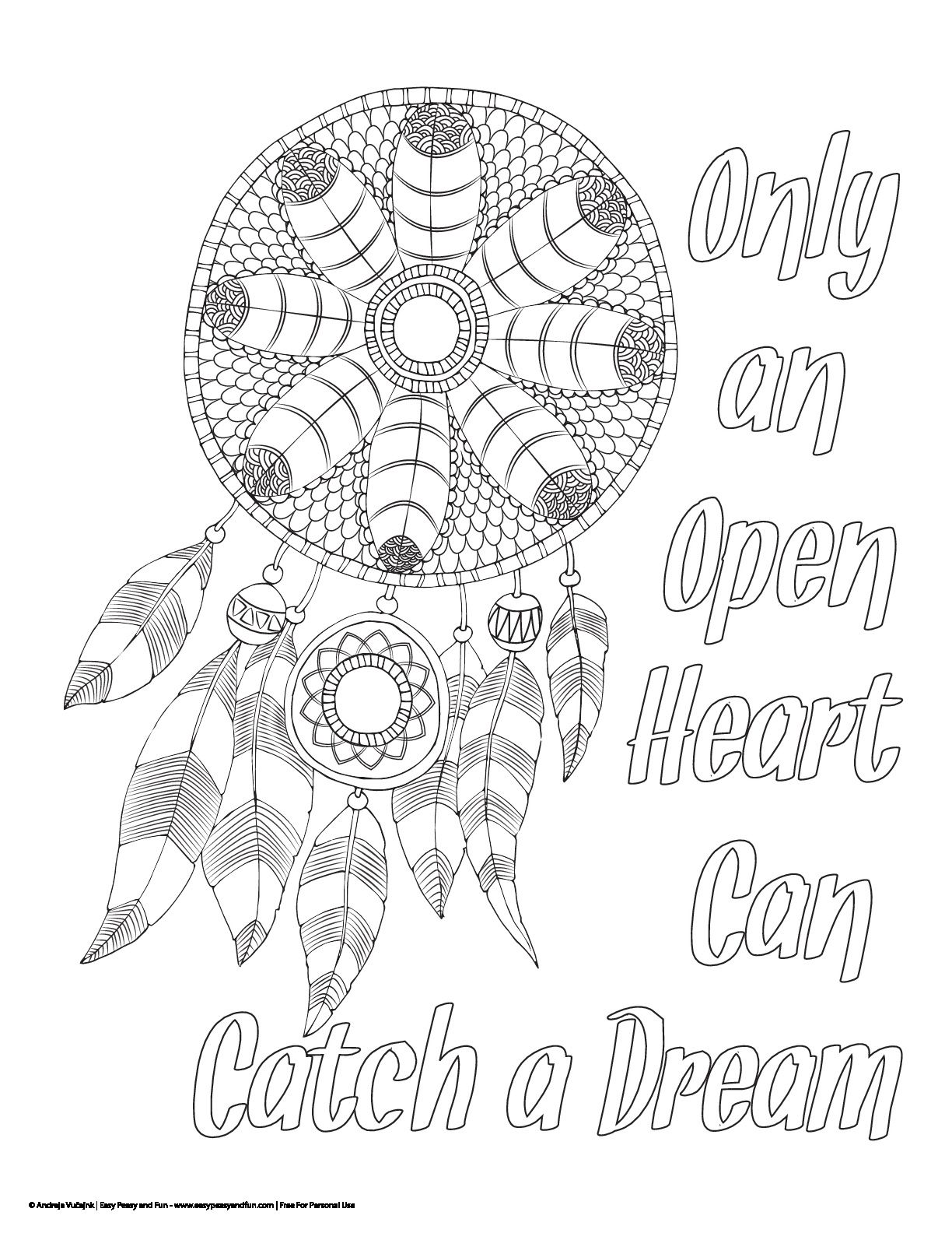 Dream Catcher Coloring Pages By Cyndi Tenney On Therapy Free