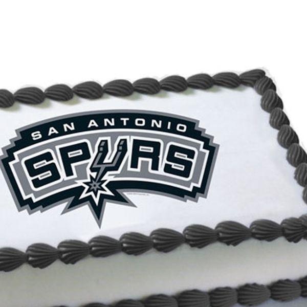 Awesome San Antonio Spurs Cakes Nba San Antonio Spurs Edible Cake Birthday Cards Printable Trancafe Filternl