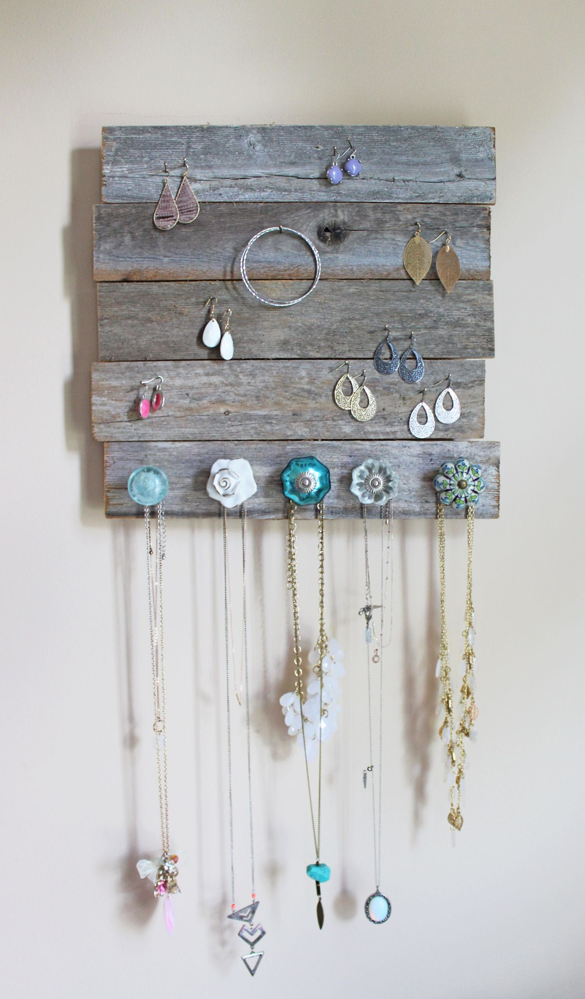 Diy Jewelry Holder The Balanced Guru Diy Jewelry Holder Jewelry Organizer Wall Diy Holder