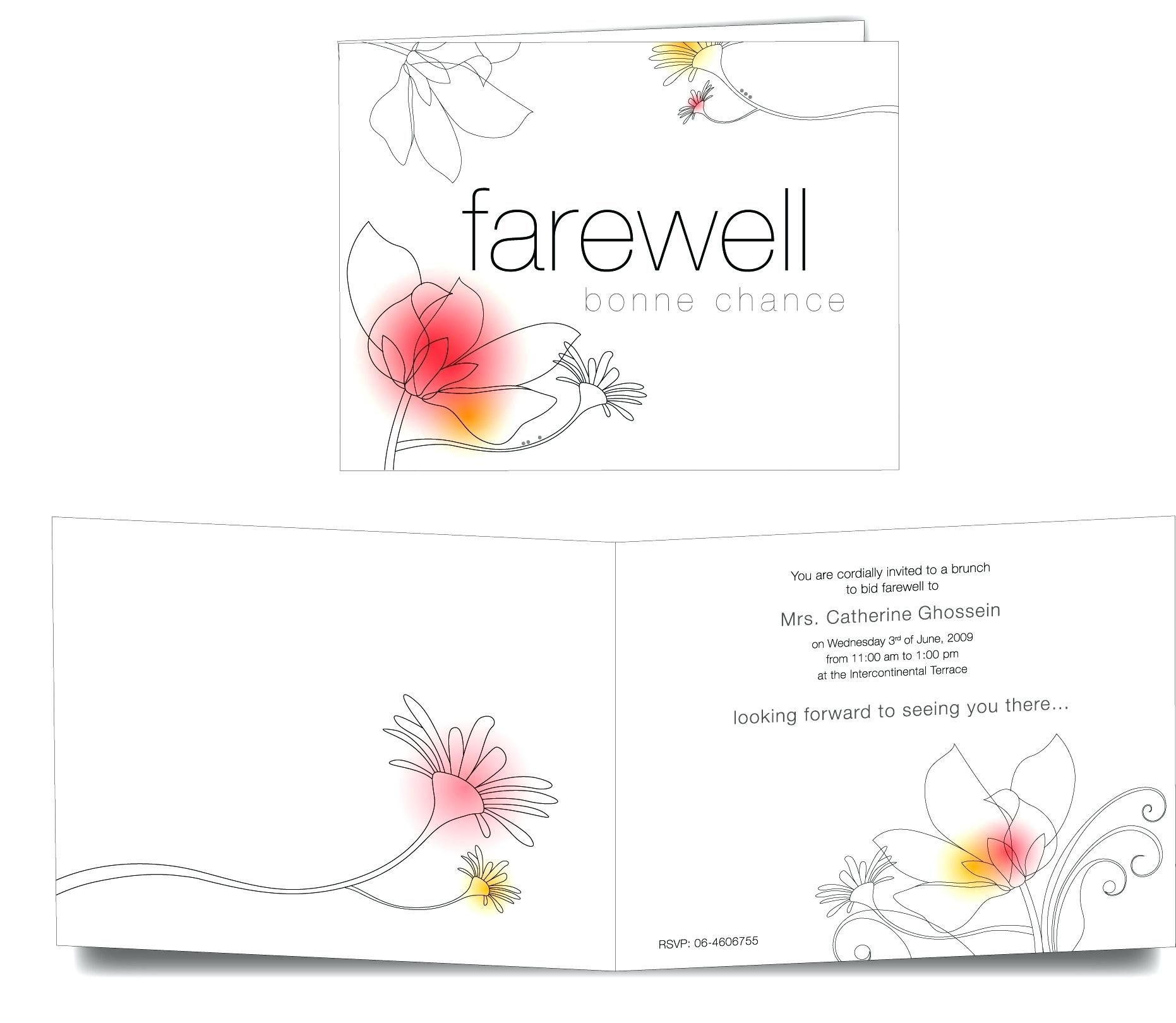The Enchanting 013 Boss Farewell Invitation Daily Motivational Quotes Send Inside Farewell Invita Farewell Cards Party Invite Template Farewell Invitation Card