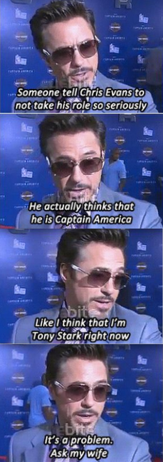Robert Downey Jr. is awesome, lol