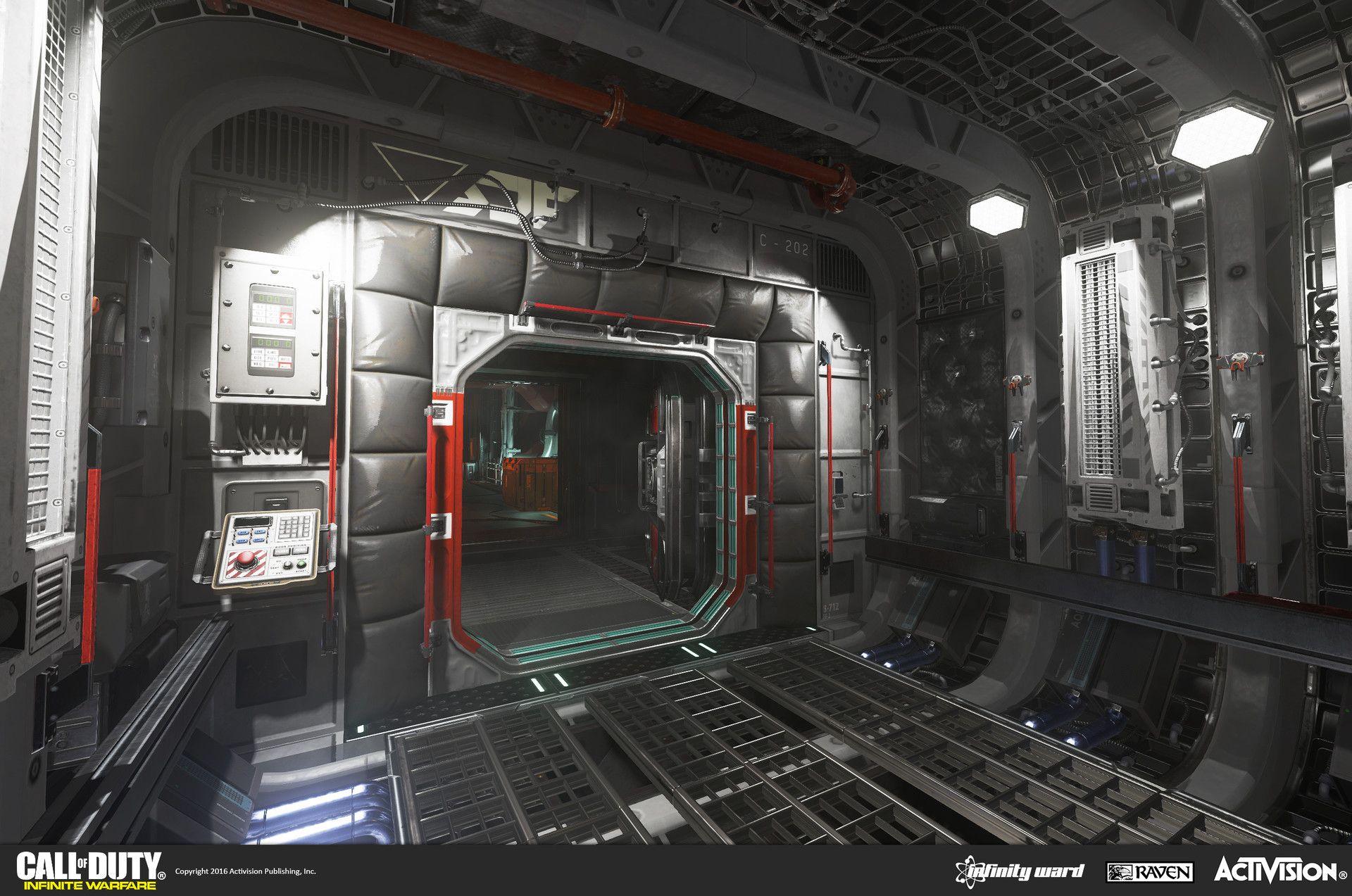 Artstation call of duty infinite warefare ship assaults alex kreeger sci fi environment - Infinite warfare ship assault ...