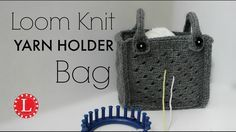 Step by Step Purse Tutorial. This very cool version of yarn holder that allows you take your loom knit project on the road. Use your small 24-peg to complete... #diyyarnholder