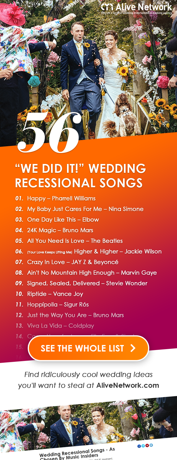 56 Wedding Recessional Songs in 2020 Wedding recessional