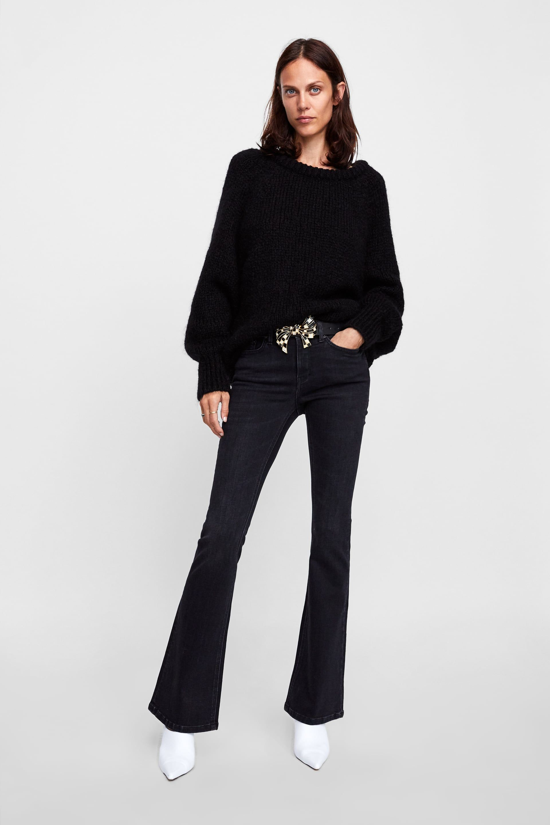 7fa6f2ffb2 Image 1 of SKINNY FLARE MOORE BLACK JEANS from Zara | Lynne | Jeans ...
