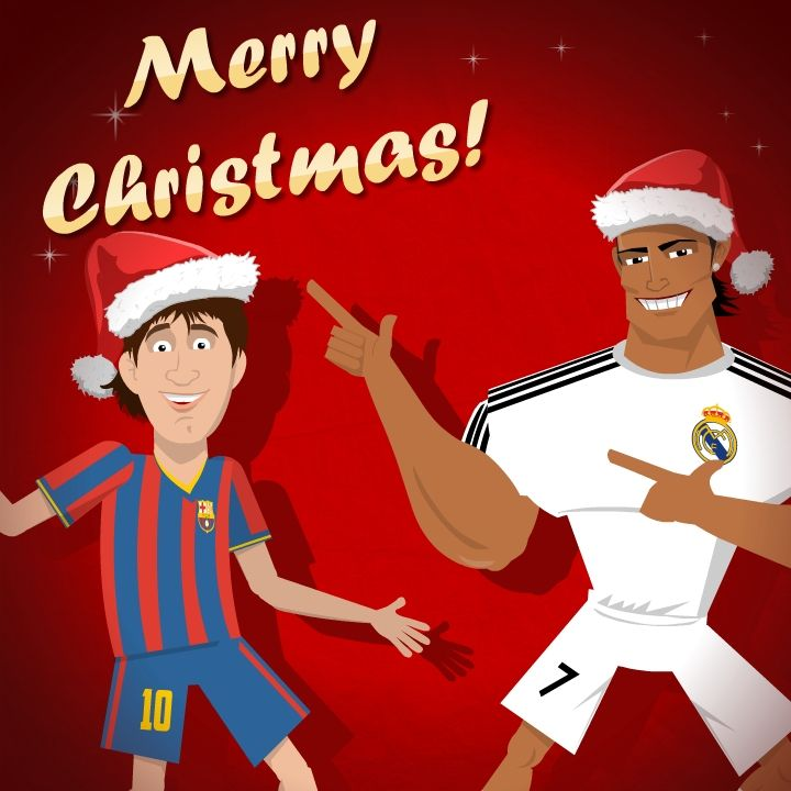 Messi & Ronaldo Christmas card | Greetingmoods cards | Pinterest ...