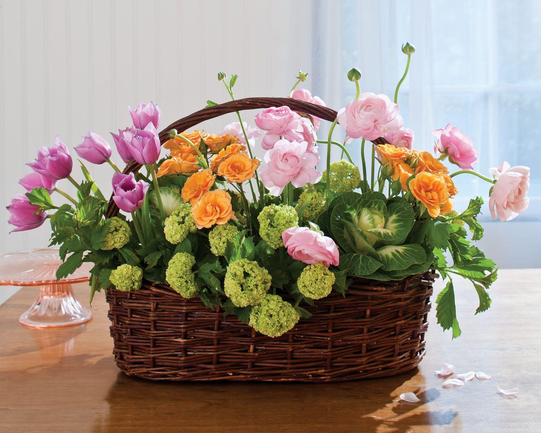 Basket Flower Decoration Dried Flower Arrangement Dried Floral Arrangement Basket