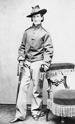 Mrs. Frances Clayton disguised as a male. Female soldiers of the Civil War