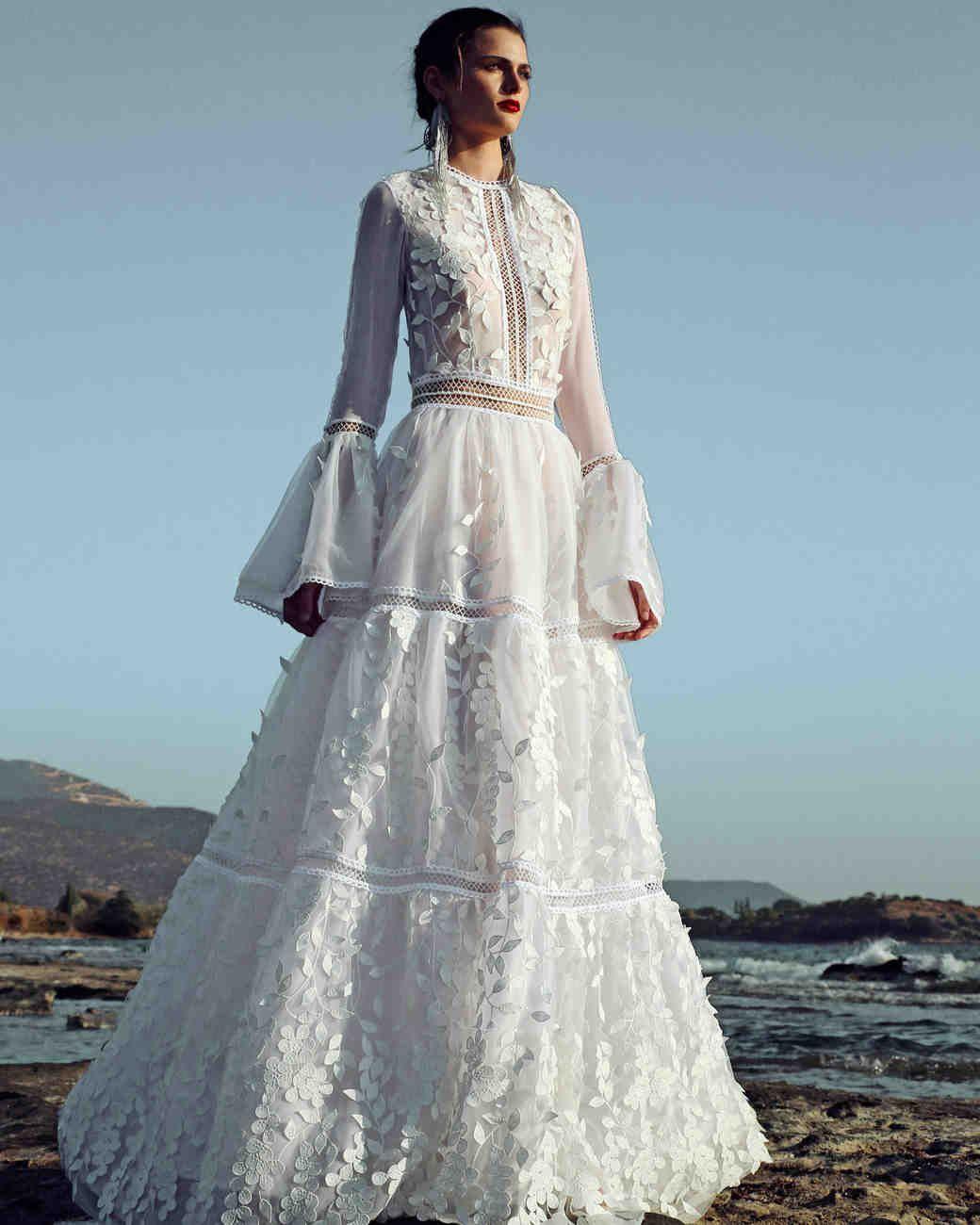 Costarellos Fall 2017 Wedding Dress Collection   Martha Stewart ...