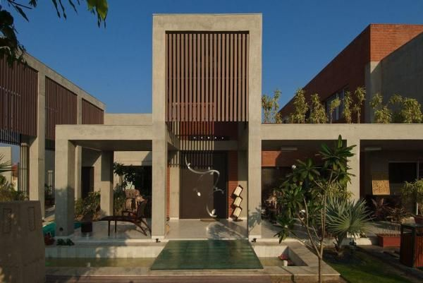The Brick House in Gujarat, India by Hiren Patel Architects