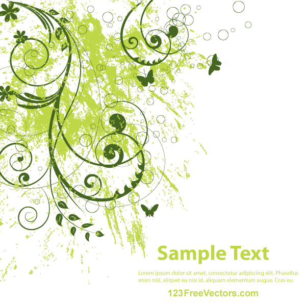Vector Abstract Grunge Floral Background  Background Printables